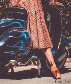 bas couture La Dame de France, un bas nylon au talon unique dessiné par Sandrine Raimbaut