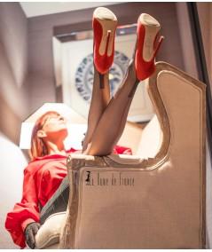 Bas couture en nylon très fins, transparent et doux avec des grandes tailles