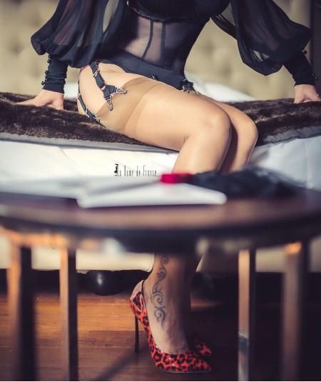 lingerie vintage avec bas couture