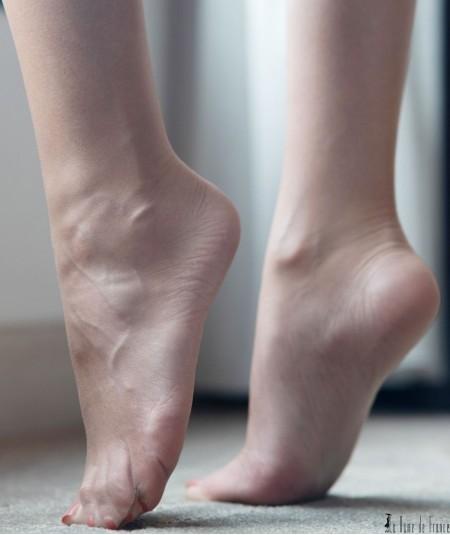 bas ou collant transparent pour mettre avec des sandales ou escarpins open toes