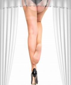 Découvrez le bas nylon à couture, un voile pour les fétichistes du pied