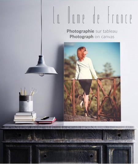 Tableau de La Dame de France en bas couture. Demandez la photo que vous voulez en impression