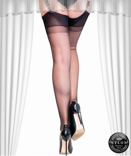 bas nylon sans couture noir à 10€