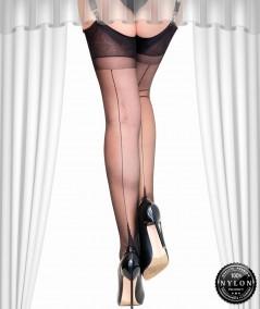 Achetez un authentique Bas nylon à couture noire pas cher